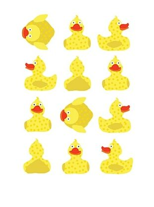 66% OFF pop & lolli Dancing Rubber Duckies Fabric Wall Decals