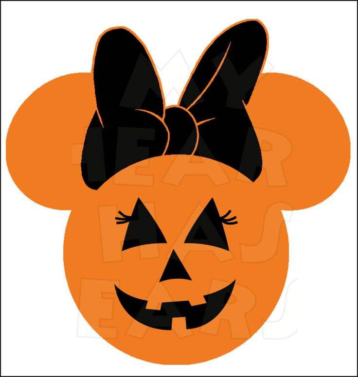Minnie Mouse Pumpkin Jack O Lantern INSTANT DOWNLOAD Halloween digital clip art :: My Heart Has Ears