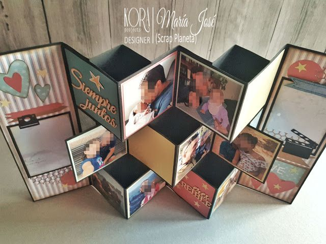 BLOG de KORA projects: TUTORIAL ESPECIAL DIA DEL PADRE: TARJETA 3D EXPANDIBLE Diy Arts And Crafts, Paper Crafts, Diy Crafts, Mini Albums, Craft Work For Kids, Father's Day Diy, 3d Cards, Family Gifts, Happy Fathers Day