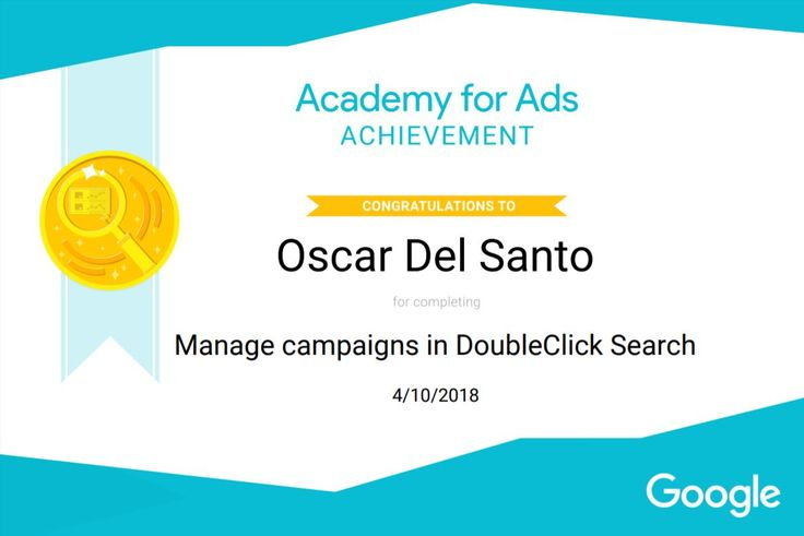 Google DoubleClick Manage Search Campaigns 10/4/2018