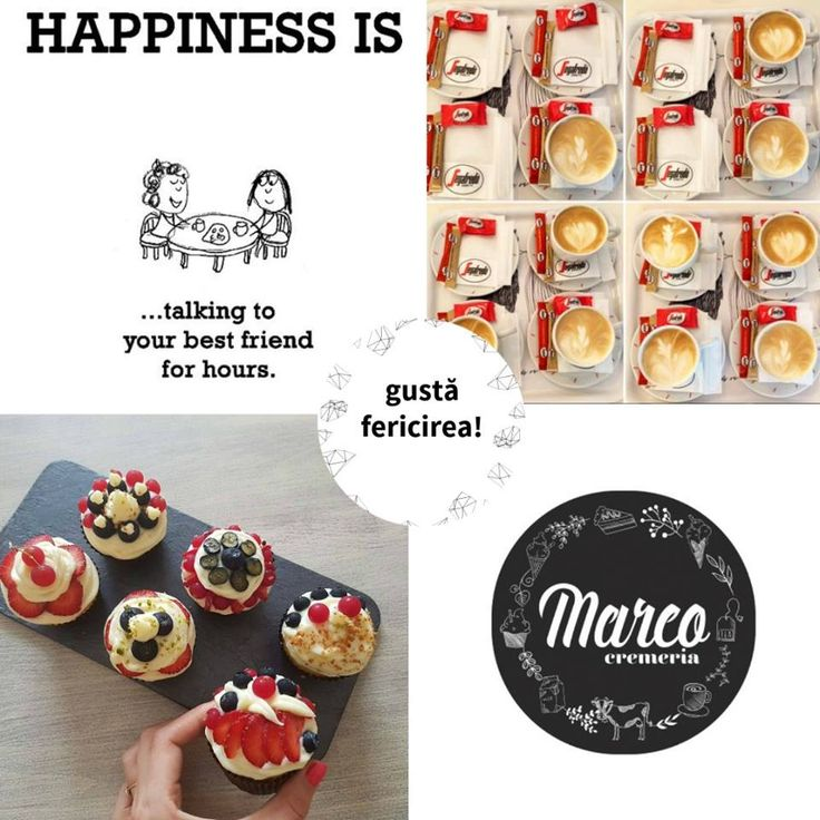Gustă fericirea alături de un prieten drag. O tartă cu fructe. O cafea. O poveste. Îți vor colora ziua. #cremeriamarco #pitesti