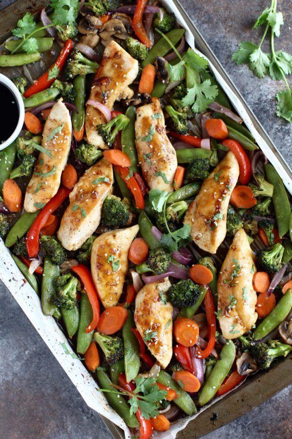 One Pan Teriyaki Chicken Veggie Bake Recipe Easy Dinner