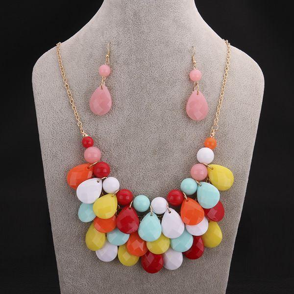 bijoux ensemble ,collier ,boucle d'oreille