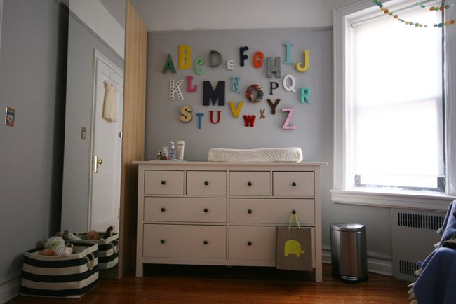 i really love how the alphabet wall turned out.