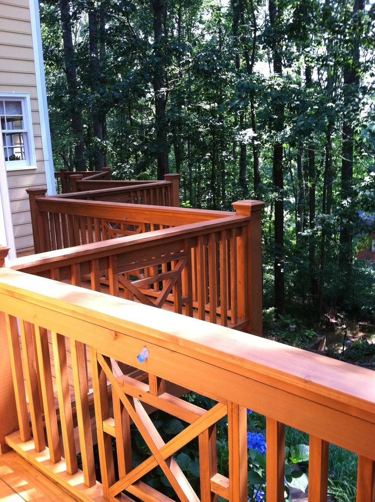 12 best images about deck railing on pinterest custom for Patio decks for sale