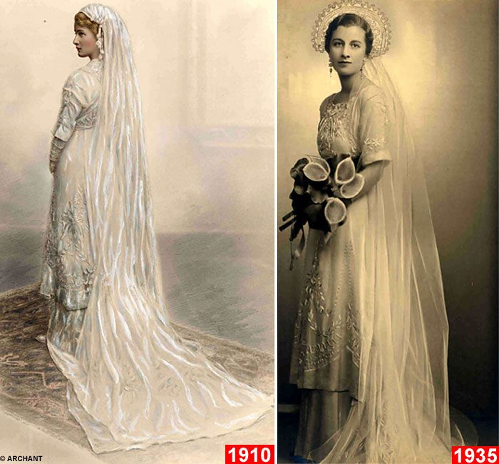 Bride is the SIXTH in her family to wear 100-year-old wedding dress