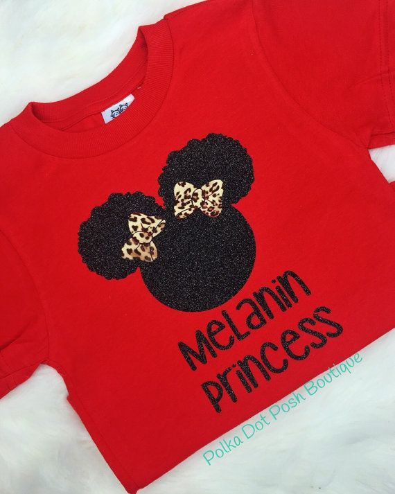 Melanin Princess Toddler Tee Girl Tshirt Natural Hair T