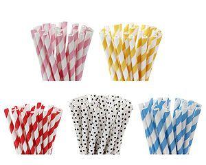 Bunte Strohhalme/Lollipop Stiele aus Papier - Cake Pop Sticks farbig - 15cm