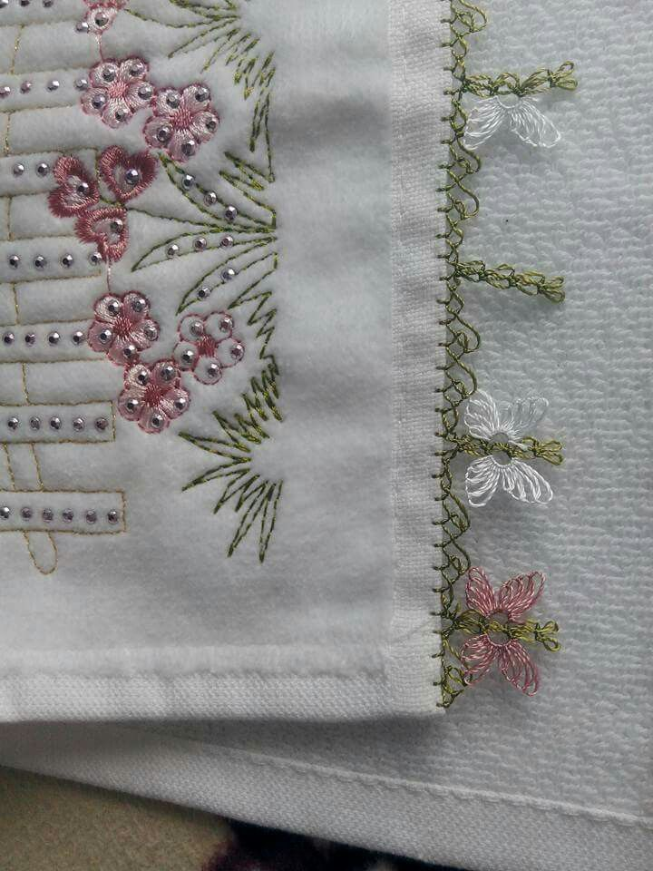 beading embroidery with oya