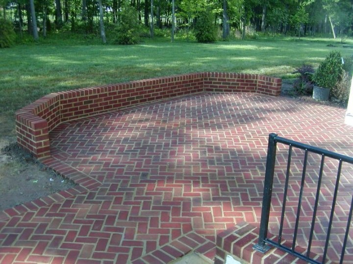 Brick Patio Wall Designs this page also has a lot of other nice brickwork for patio Brick Patio Outdoor Spaces Pinterest Brick Patios Bricks And Patio