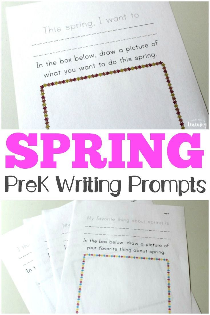 Encourage your preschoolers to express themselves with these spring preschool story prompts! #learning #homeschooling #preschool