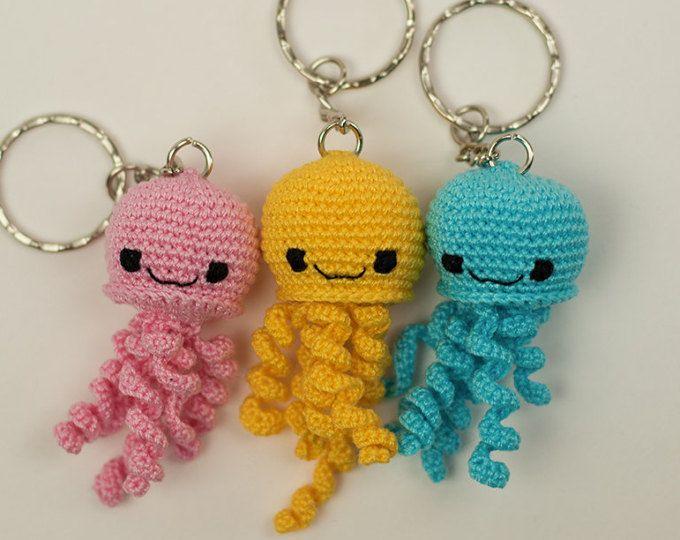 Medusa Portachiavi Alluncinetto Idea Regalo Athena Crochet
