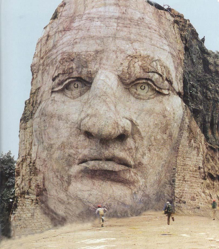 Crazy Horse Memorial 2010 impressive-will not accept govt funding to complete 5x size of faces on Rushmore