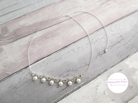 Hey, I found this really awesome Etsy listing at https://www.etsy.com/uk/listing/536792717/wedding-hair-chain-pearl-hair-chain