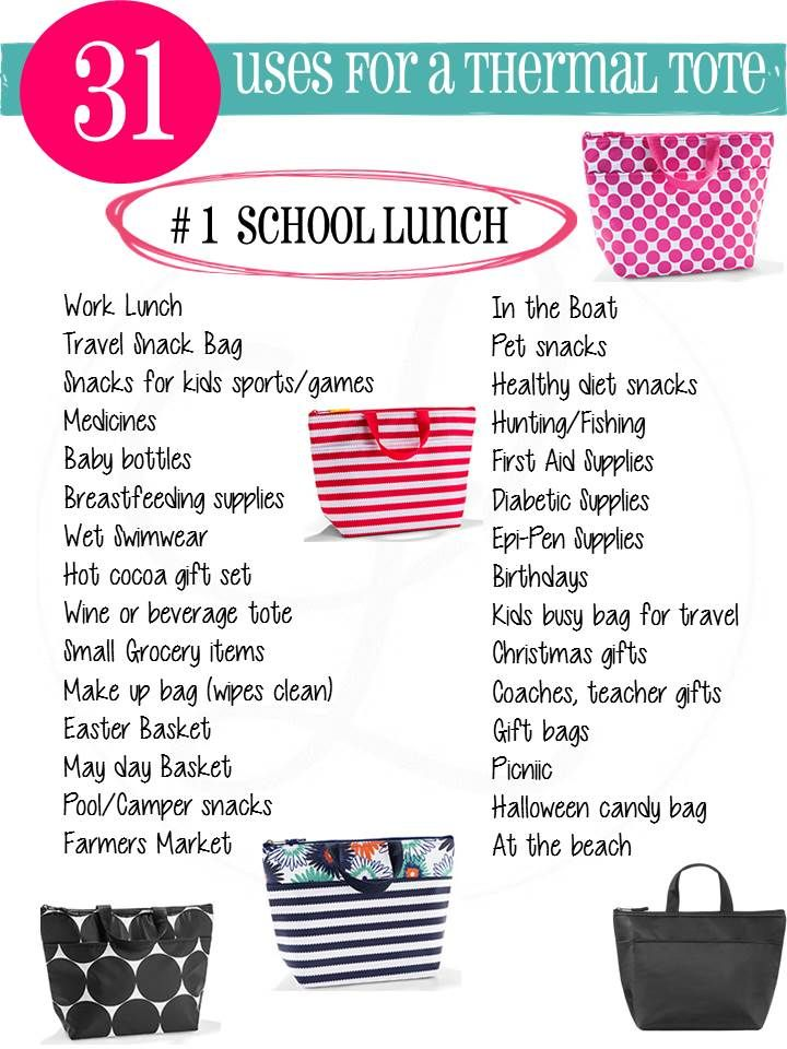31 Uses for lunch thermal tote www.mythirtyone.com/Brandi-hall