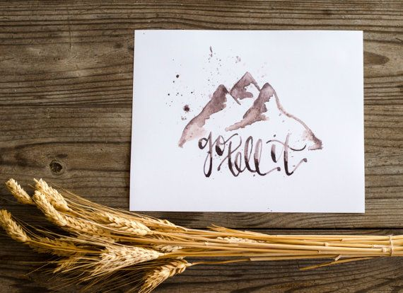 Go Tell It (on the mountain) Watercolor Print in Natural by WinsomeEasel on Etsy, $12.00