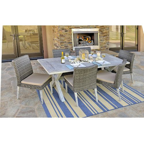 Found it at Wayfair - Lindmere 7 Piece Dining Set with Cushions