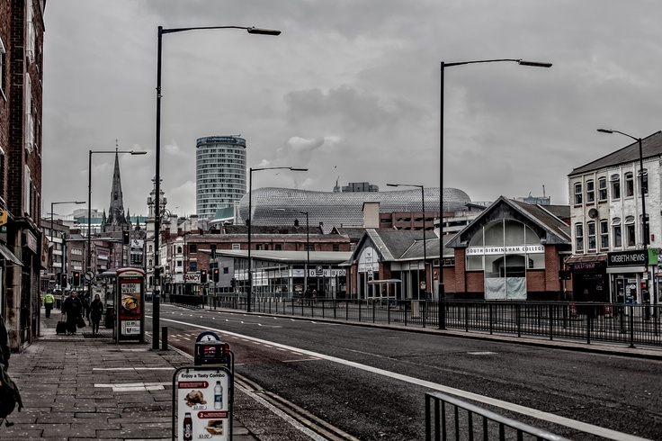 Looking towards Selfridges, the Rotunda and St Martins Church from Digbeth