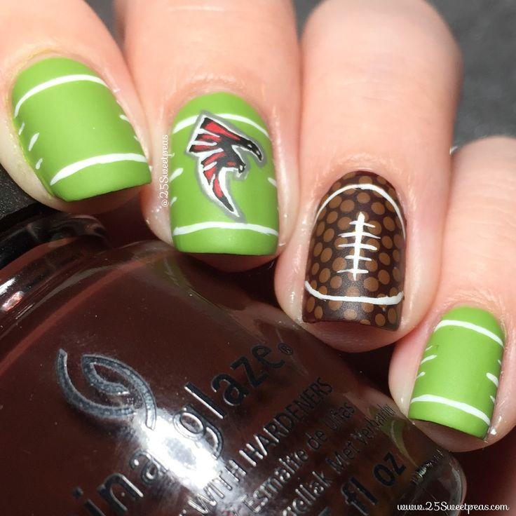 Atlanta Falcons #nailart #nails #Superbowl