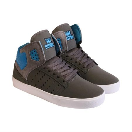 Supra Atom Gray Turquoise White Mens High Top Sneakers | Online Discount  Shoes