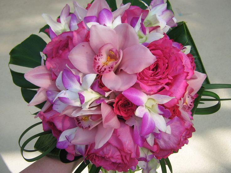 dendrobium orchids, cymbidium orchids, roses