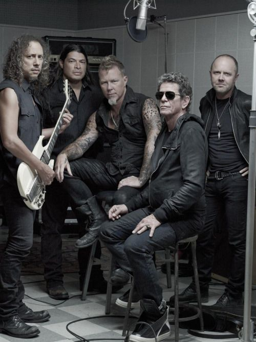 Metallica 2011:  Kirk Hammett, Robert Trujillo, James Hetfield, Lou Reed, Lars Ulrich