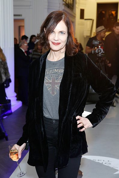 Elizabeth McGovern attends The Halcyon Gallery hosts the opening party for Russell Young's new exihibition Superstar on January 19…