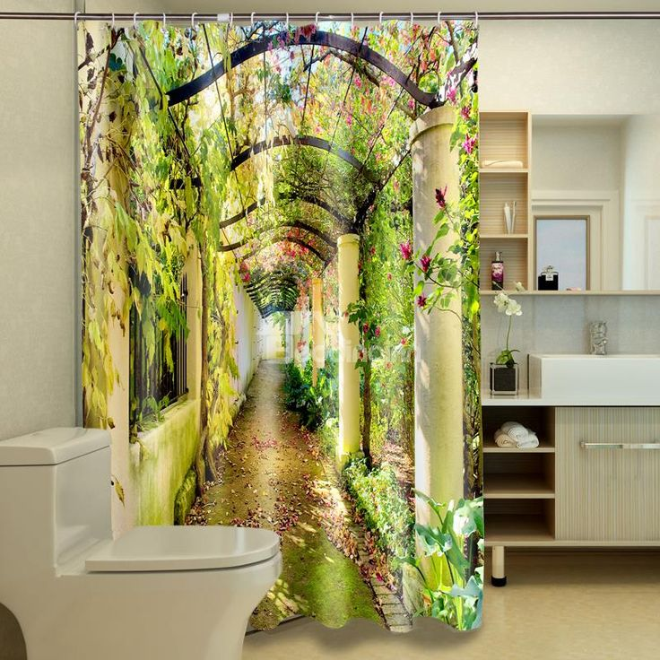 high quality attractive unique corridor polyester 3d shower curtain on sale buy retail price 3d