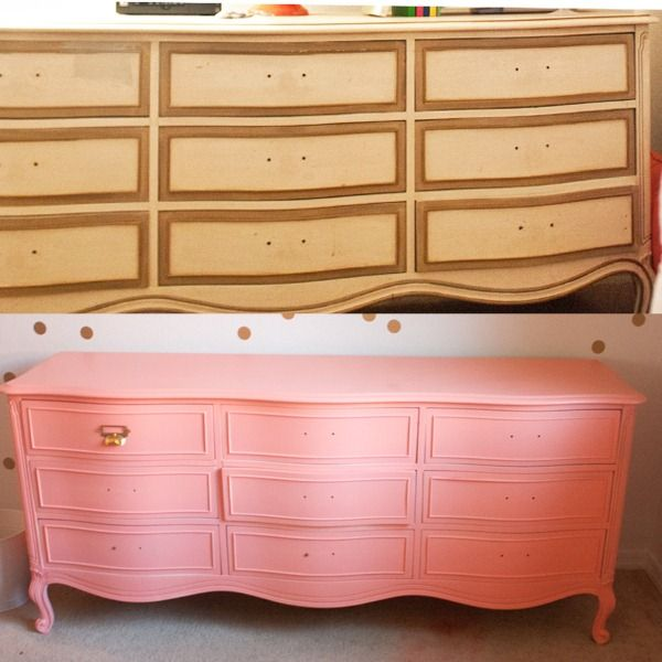 Coral Pink Spray Paint Part - 39: Coral Painted Dresser