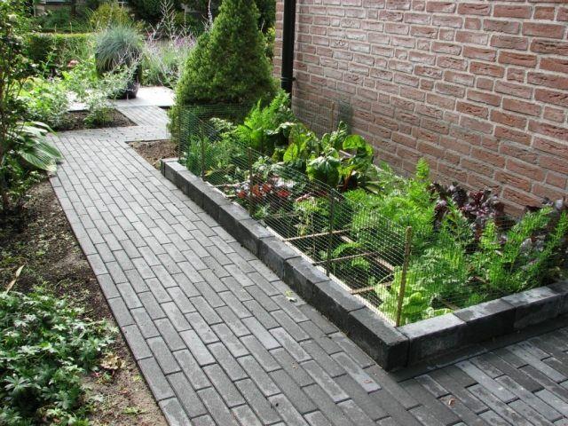garten ideen gestaltung gehweg hochbeete gemüse | Garten | Pinterest
