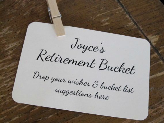 Retirement Bucket Instruction Card for Retirement Party ...