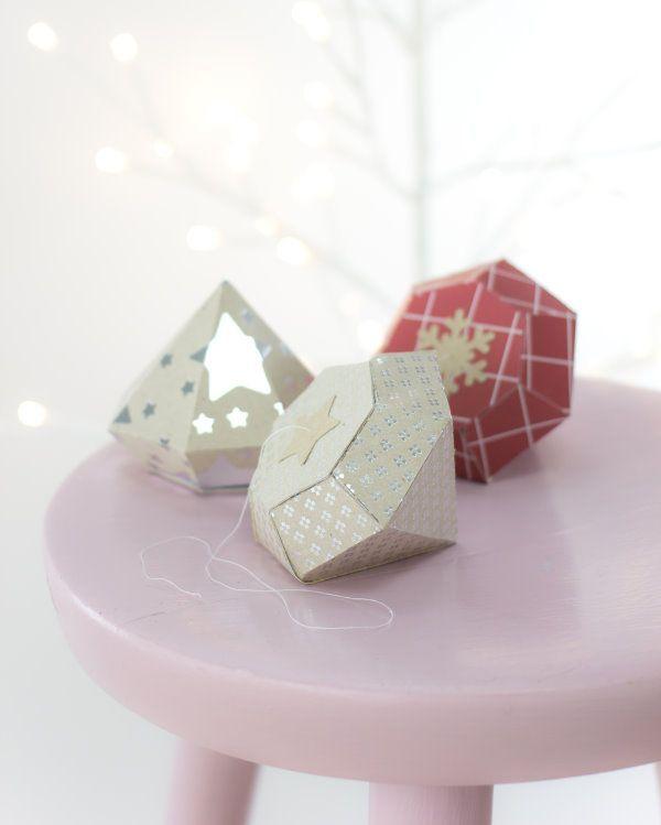 Happy DIY: Endlich kommt sie zum Einsatz: Die kostenlose Vorlage zum Ausdrucken für einen selbstgemachten Papierdiamanten. Ich habe heute die genaue Anleitung zum Diamant-Falten und zusätzlich ein tolles Gewinnspiel für Euch!