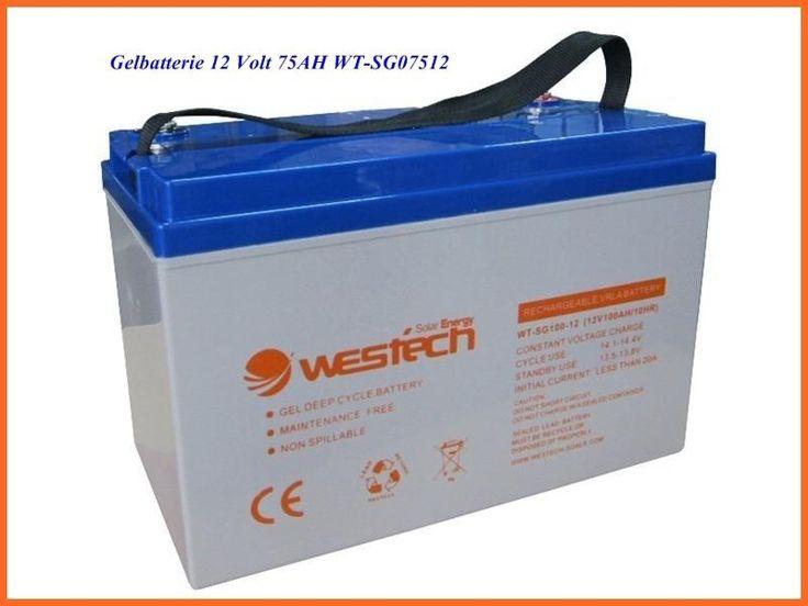75Ah 12V Gel Akku Solar Batterie Gelbatterie verschlossen absolut wartungsfrei