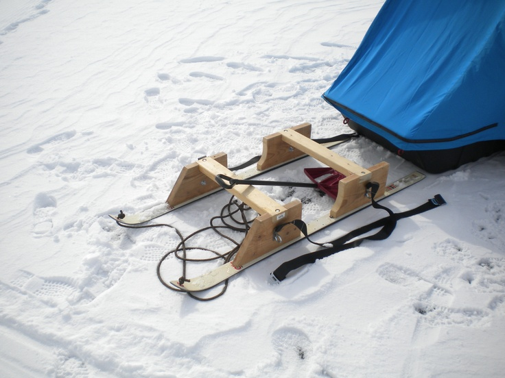 My version of the smitty sled ice fishing pinterest for Ice fishing snowmobile