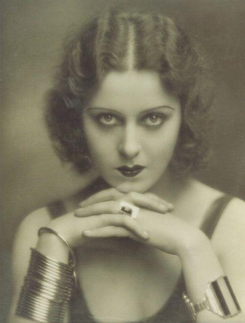 Model wearing jewelry by Jean Desprès, 1930