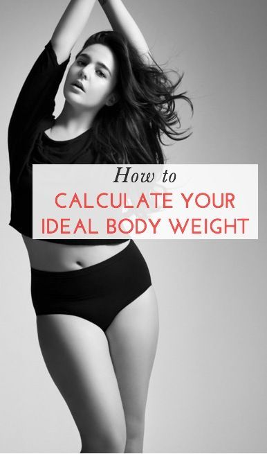 HOW TO CALCULATE YOUR IDEAL BODY WEIGHT