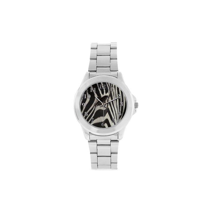 Zebra Unisex Stainless Steel Watch. FREE Shipping. #artsadd #watches #zebra