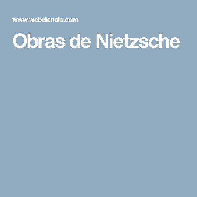 Obras de Nietzsche