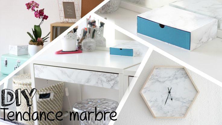 DIY #16 - Déco marbre l Idée pour customiser sa déco pour moins de 10€ - YouTube