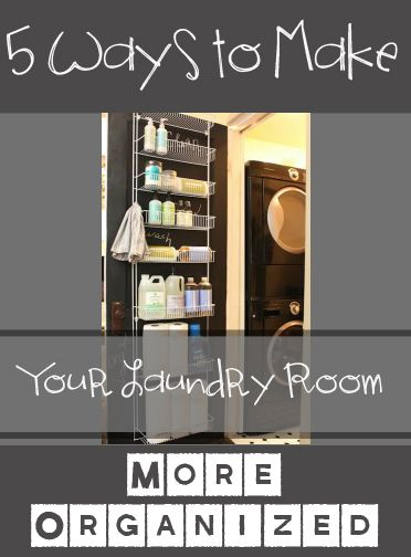 5 ways to make your laundry room more organized