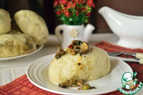 Дим-сам, паровые булочки с грибами - кулинарный рецепт