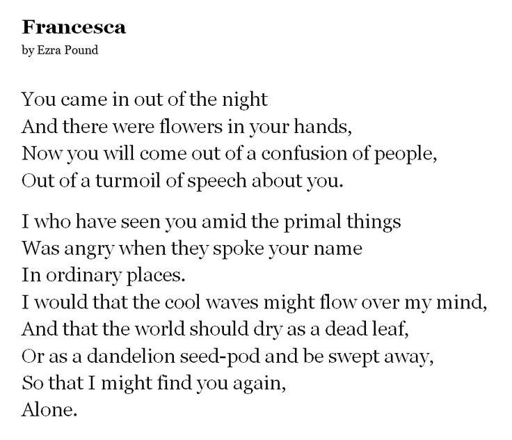 Francesca by Ezra Pound