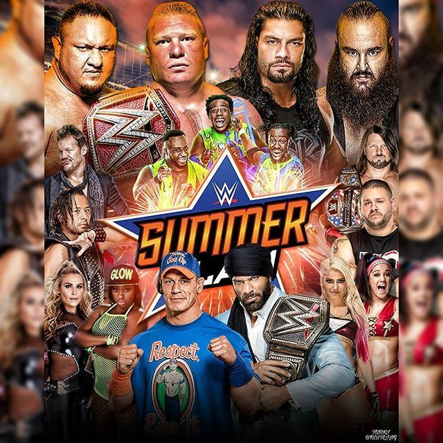 . #summerslam Custom Poster . What do you think ?  . . ======================= ....