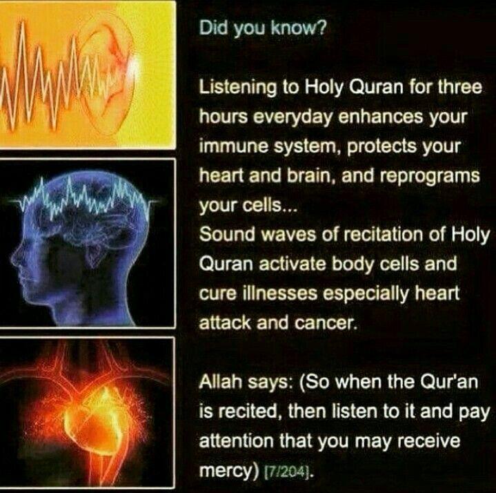 Benefits Of Listening Quran.