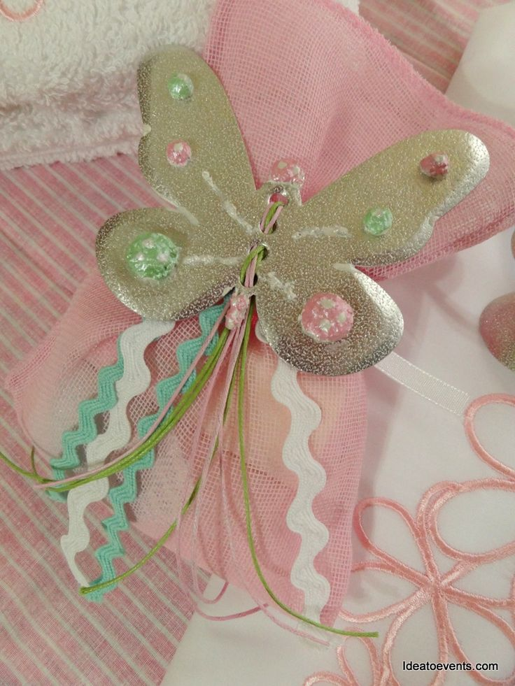 Butterfly hand painted favours! Ρομαντική μπομπονιέρα βάπτισης ζωγραφική πεταλούδα. Ideatoevents.com