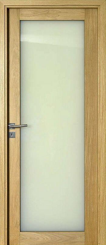 - Bloc-porte à recouvrement livré assemblé prêt à poser    - Porte en chêne    - Vitrage 6mm clair (trempé) ou dépoli (feuilleté)    - Ferrage trois fiches    - Serrure à clef ou condamnation    - Huisserie KM1 en médium revêtu chêne plaqué verni    - Joint de confort posé sur l'huisserie    - Disponible en huisserie traditionnelle 88 x50