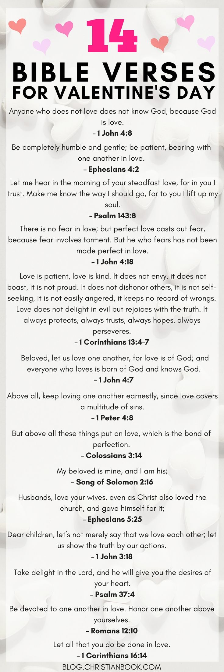 No matter what your relationship status, these Bible verses are perfect for celebrating Valentine's Day.