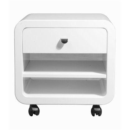 Szafka kontener White Club 1 szuflada, kare design