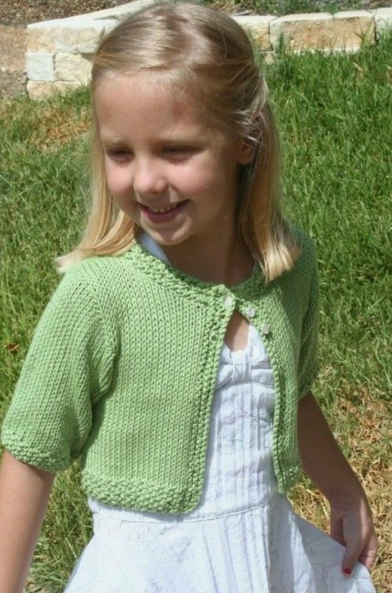 Knitting Pattern Cardigan Girl : Knitting Pattern,girls knit cardigan,sweater pattern,shrug,short sleeves,crop...