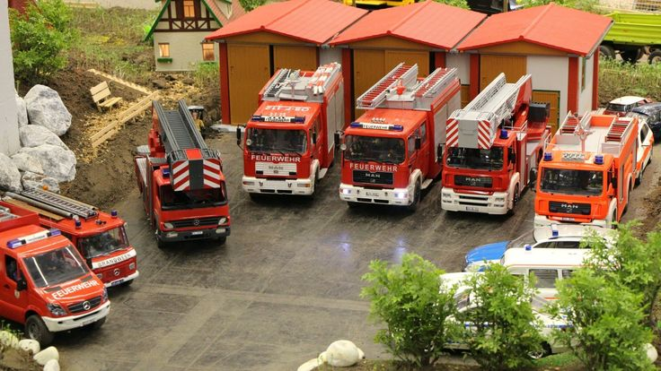 RC Feuerwehreinsatz Intermodellbau 2014